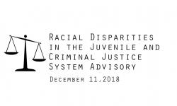 Racial Disparities Advisory Panel - 12/11/2018