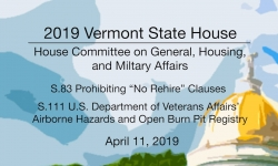 Vermont State House - S.83, S.111 4/11/19