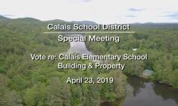 Calais School District - Special Meeting
