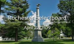 Rochester Selectboard - April 22, 2019