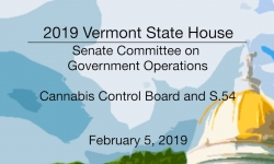 Vermont State House - Cannabis Control Board and S.54 2/5/19