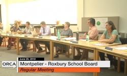 Montpelier - Roxbury School Board - June 20, 2018