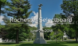 Rochester Selectboard - June 25, 2018