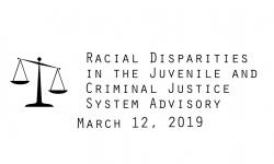 Racial Disparities Advisory Panel - March 12, 2019