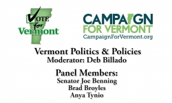 Vote for Vermont: VT Politics & Policies, Senator Joe Benning, Brad Broyles, Anya Tynio