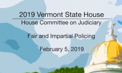 Vermont State House - Fair and Impartial Policing 2/5/19