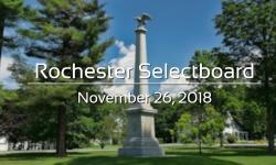 Rochester Selectboard - November 26, 2018
