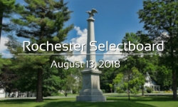 Rochester Selectboard - August 13, 2018