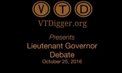 VT Digger Presents Lieutenant Governor Debate - October 25, 2016