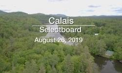 Calais Selectboard - August 26, 2019