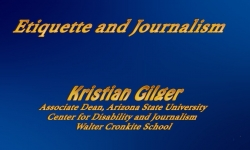 Abled and On Air - Etiquette and Journalism