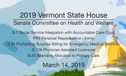 Vermont State House - S.7, PR5, S.31, S.128, S.53 3/14/19