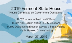 Vermont State House - H.378, H.207, H.509, H.444 3/27/19