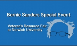 Bernie Sanders Special Event - Veteran's Resource Fair at Norwich University