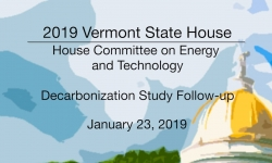 Vermont State House - Decarbonization Study Follow-up 1/23/19