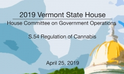 Vermont State House - S.54 Regulation of Cannabis 4/25/19