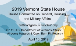 Vermont State House - S.68, S.111 4/10/19
