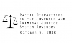 Racial Disparities Advisory Panel - 10/9/2018