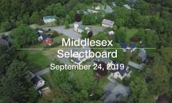 Middlesex Selectboard - September 24, 2019