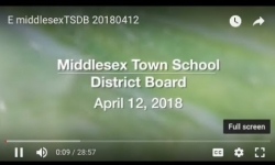 Middlesex Town School District Board - April 12, 2018  [MTSDB]