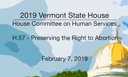 Vermont State House - H.57 - Preserving the Right to Abortion 2/7/19