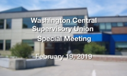 Washington Central Supervisory Union  -  Special Meeting 2/19/19
