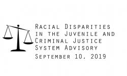 Racial Disparities Advisory Panel - September 10, 2019