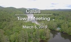 Calais Selectboard - Town Meeting - March 5, 2019