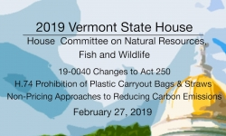 Vermont State House - 19-0040, H.74, Non-Pricing Approaches to Reducing Carbon Emissions 2/27/19