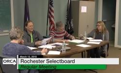 Rochester Selectboard - February 12, 2018