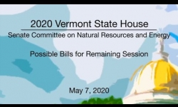 Vermont State House - Possible Bills for Remaining Session 5/7/2020