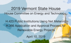 Vermont State House - H.423, H.355 4/10/19