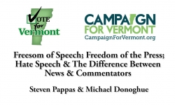 Vote for Vermont: Freedom Speech & Freedom of Press