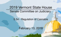 Vermont State House - S.54 Regulation of Cannabis 2/13/19