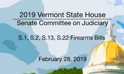Vermont State House - S.1, S.2, S.13, S.22 Firearms Bills 2/28/19