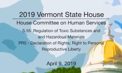 Vermont State House - S.55, PR5 4/9/19