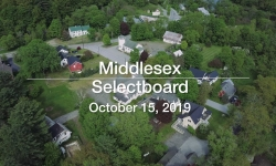 Middlesex Selectboard - October 15, 2019