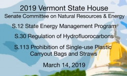 Vermont State House - S.12, S.30,  S.113 3/14/19