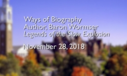 Osher Lifelong Learning Institute - Baron Wormser: Ways of Biography