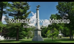 Rochester Selectboard - Town Meeting - March 4, 2019