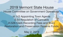Vermont State House - H.143, S.54, and H526 5/2/19