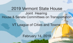 Vermont State House - VT League of Cities and Towns 2/14/19