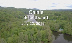 Calais Selectboard - July 22, 2019