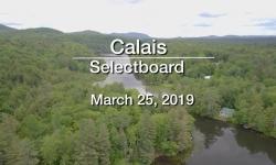 Calais Selectboard - March 25, 2019