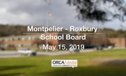 Montpelier - Roxbury School Board - May 15, 2019
