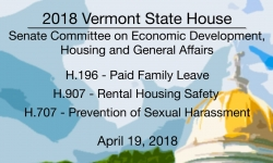 Vermont State House: H196, H907, H707 4/19/18