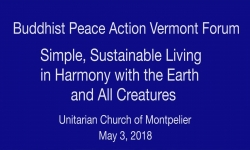 Buddhist Peace Action Vermont - Forum on Living In Harmony