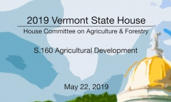 Vermont State House - S.160 Agricultural Development 5/22/19