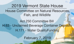 Vermont State House - Act 250 Committee Bill, H63, H171 2/7/19