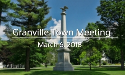 Granville Town Meeting - March 6, 2018